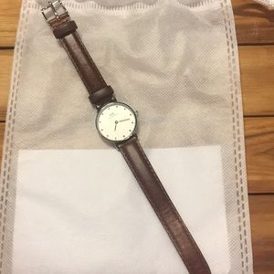Daniel Wellington St Mawes Brown Leather Watch